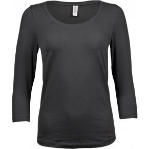 Damen 3//4 Arm T-Shirt Stretch Shirt rundhals Ausschnitt Tee Jays