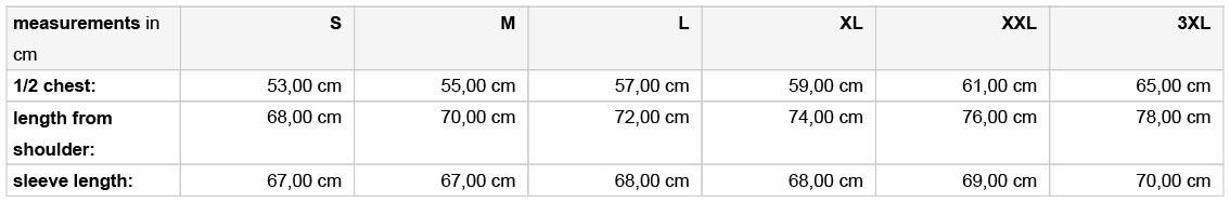 Grössentabelle GrössentabelleHerren Hybrid Strickfleecejacke James & Nicholson | JN 772