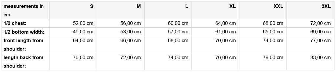 Grössentabelle GrössentabelleHerren 3-Lagen Softshell Gilet James & Nicholson | JN 1022