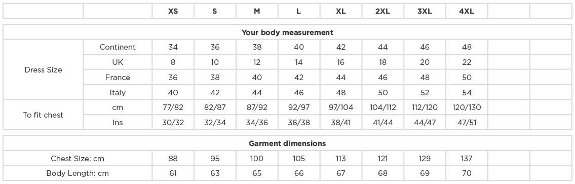 Grössentabelle GrössentabellePopeline Bluse 3/4 Arm Russell | 926F