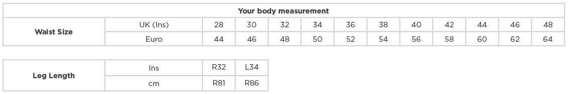 Grössentabelle GrössentabelleWorkwear Twill Hose Russell   001M, Length = 32