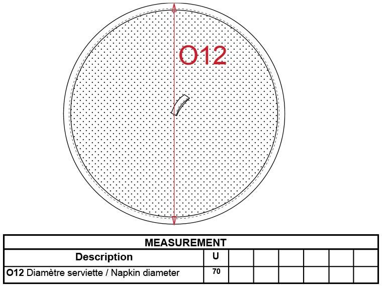 Grössentabelle GrössentabelleKreisförmiges Handtuch Kariban | K126