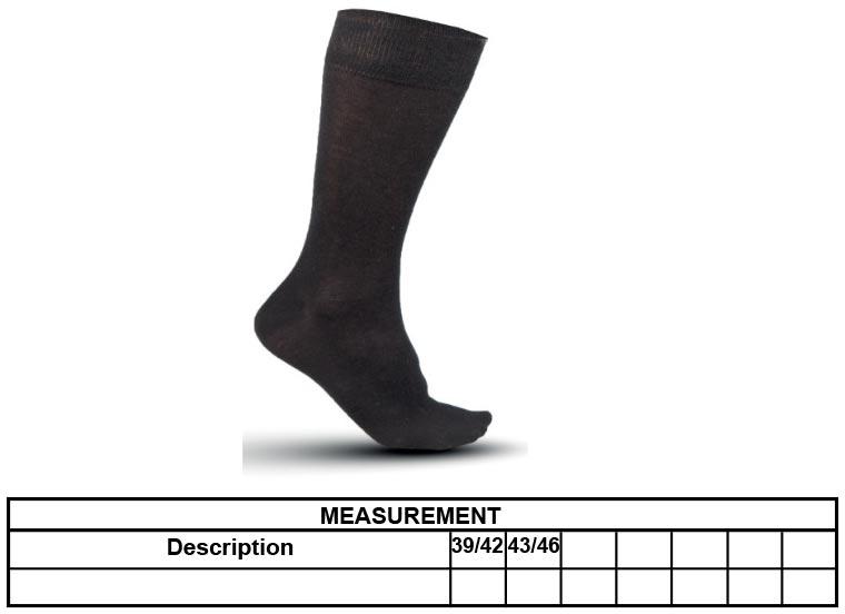Grössentabelle GrössentabelleBusiness Socken Kariban | K810