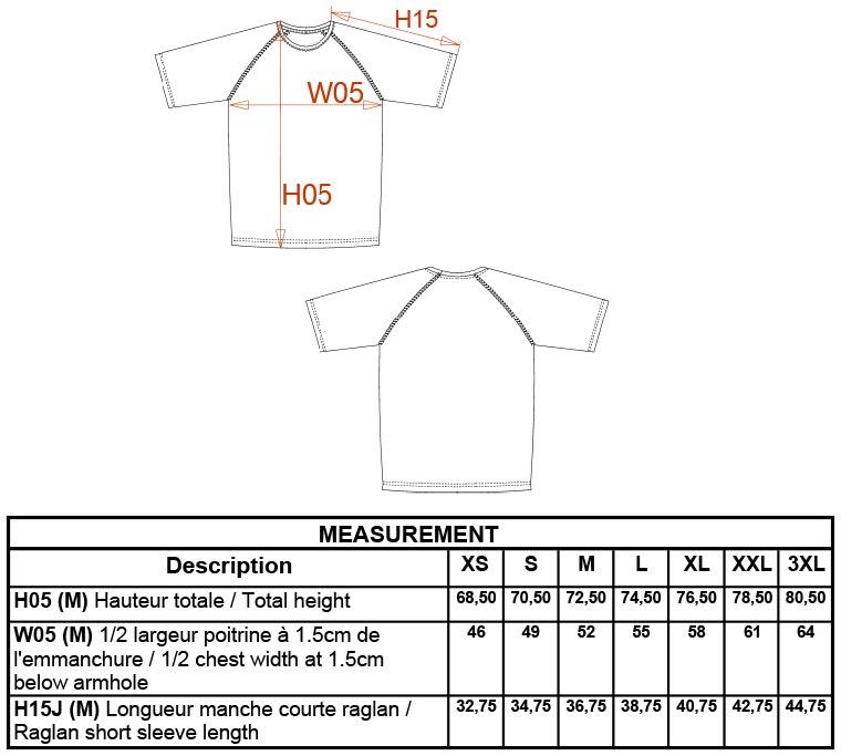 Grössentabelle Kariban ProAct | PA438 Herren Sport Shirt