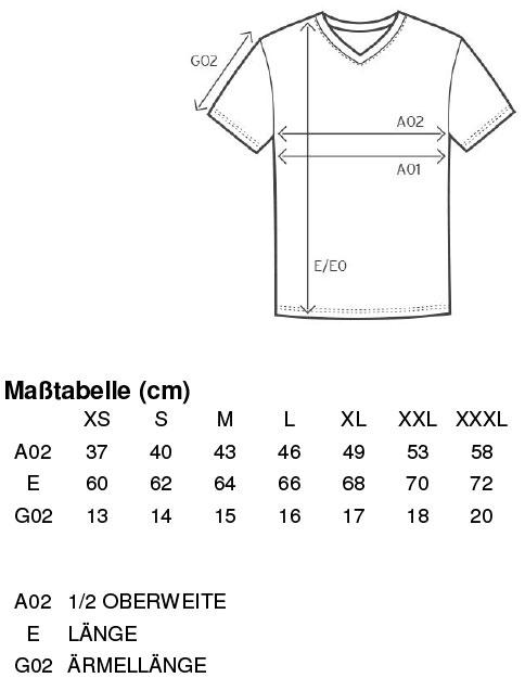 Grössentabelle GrössentabelleDamen Slim Fit V-Neck-T Promodoro   3086