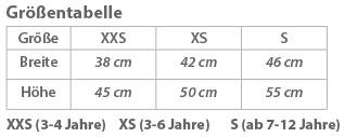 Grössentabelle Korntex | KW01 Kinder Warnweste